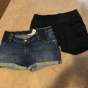 Two Liz Lange maternity shorts;